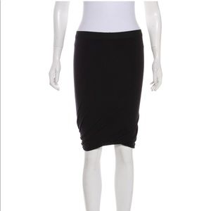 T by Alexander Wang | Gathered Knee-Length Skirt